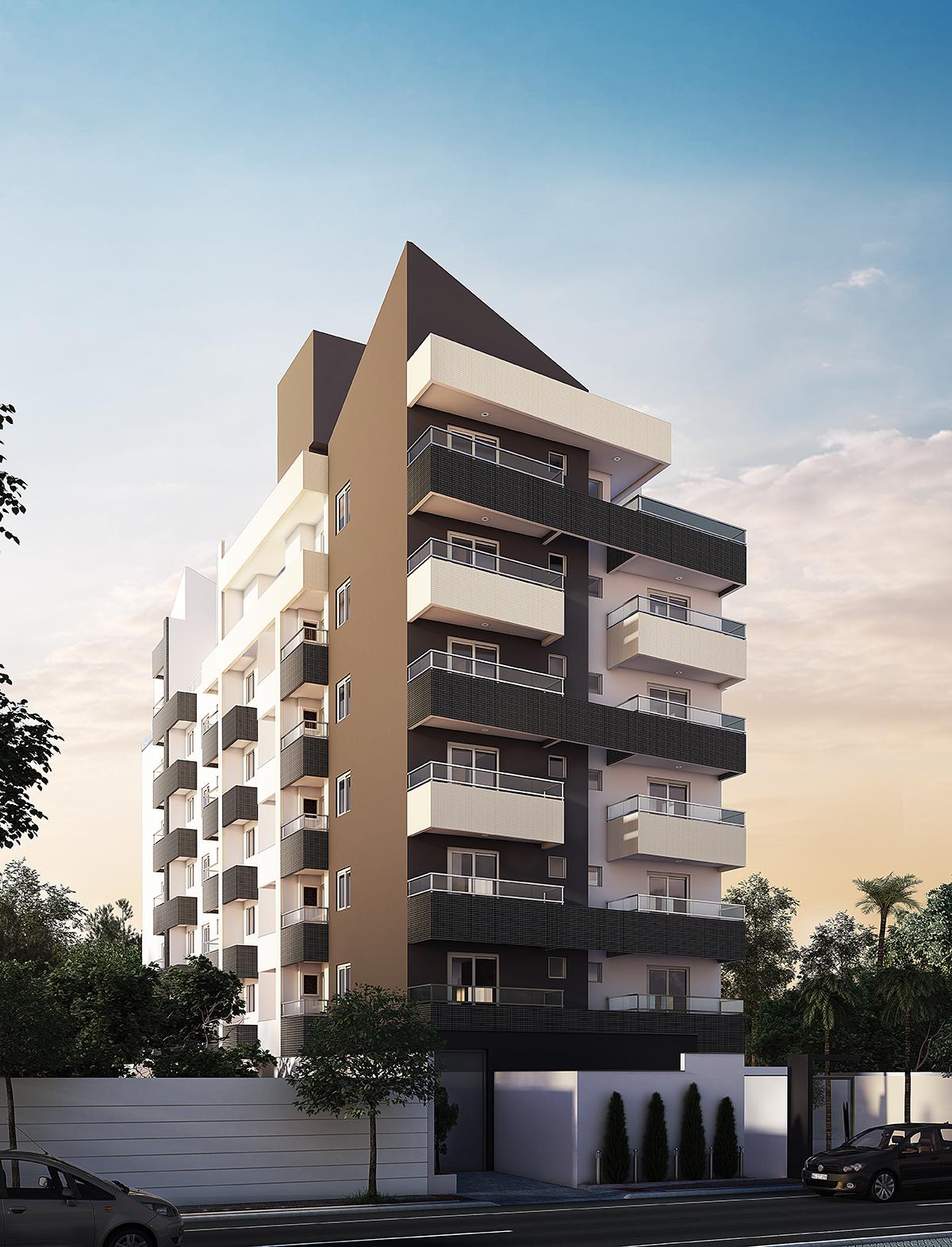 Residencial la passion brcon construtora for Fachadas para apartamentos pequenos